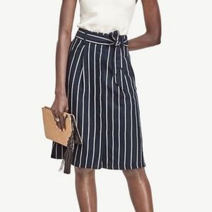 Ann Taylor Stripe Midi Skirt